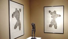 Drawing of a male figures - etchings by sculptor David Begbie