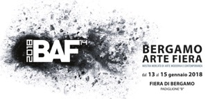 logo BAF for Bergamoe Arte Fiera 2018 in Italy