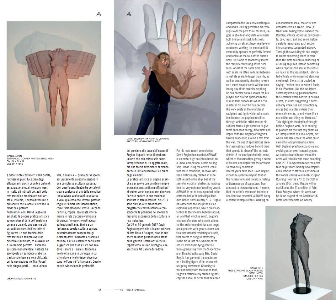 Magazine Art Style page about sculptor
