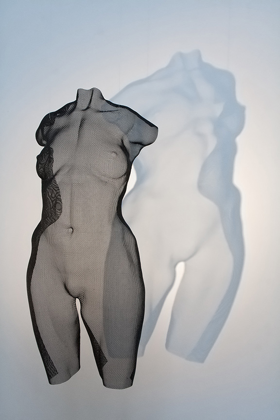 figurative semi-transparent sculpture, contemporary art by David Begbie