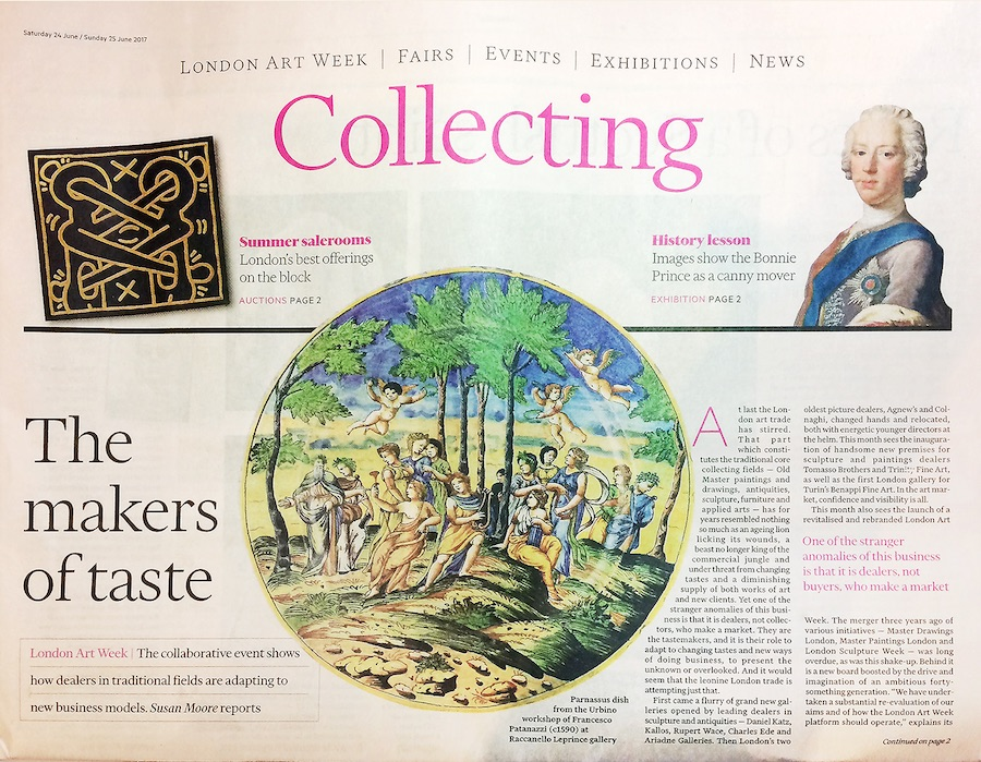 Collecting - Financial Times and Raccanello Plate - David Begbie News