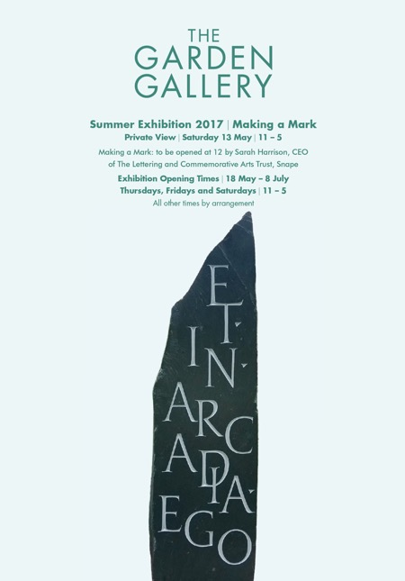 Info and exhibtion invitation - The Garden Gallery - MAKING A MARK